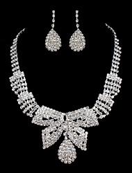 ME Vintage Luxury Austria Rhinestone Set Wedding Necklace And Earings Set T0016