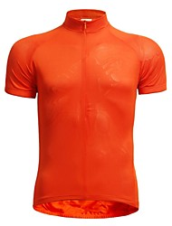JAGGAD® Cycling Jersey Men's Short Sleeve Bike Breathable / Quick Dry Jersey / Tops Polyester / Elastane Solid Summer Cycling/Bike