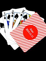 Patrón regalo personalizado Rojo Blas Gray Playing Card para Poker