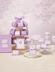 Fantastic Lavender Wedding Collection Set (50 Invitations,50 Favor Boxes,10 Place Cards,1 Guest Book)