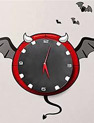 Cartoon DIY Children Mute Bat Sticker Clock