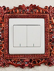 Palace Style Brown Light Switch Stickers