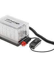 Jaune Bleu Blanc Orange Rouge 48 LED 12V étanche de toit de voiture flash stroboscopiques Magnets urgence SME Shell Warnnig lumière