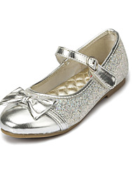 Girl's Flats Spring / Summer / Fall / Winter Comfort / Mary Jane Wedding / Dress Chunky Heel Bowknot Pink / Silver / Gold