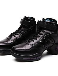 De las mujeres de cuero suave Remaches Gimnasio Zapatillas Zapatos de baile