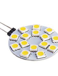 LED Spot Lampen G4 7W 480 LM 2800-3500 K 15 SMD 5050 Warmes Weiß DC 12 V