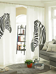 Designer Two Panels Animal  Bedroom Linen  Cotton Blend Panel Curtains Drapes