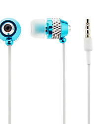 3.5mm Stereo In-Ear Headphone for iPhone/Samsung/MP3(Blue+Silver)