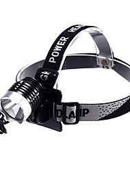 Headlamps LED 3 Mode 1200 Lumens Waterproof / Rechargeable / Self-Defense Cree XM-L2 T6 18650Camping/Hiking/Caving / Cycling /