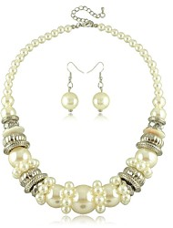 Women's Imitation Pearl Jewelry Set Non Stone