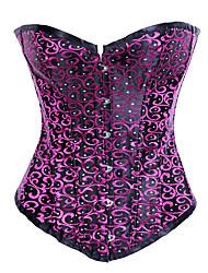 Seductive Girl Purple Brocade Gothic Lolita Corset