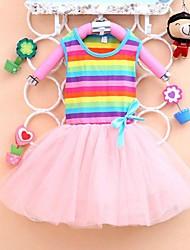 Mode arc belles robes d'été robes de princesse de fille