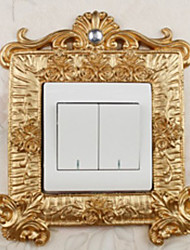 European Luxury Palace Style Gold Light Switch Stickers