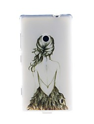 Kinston Art Back Pattern TPU Soft Case for Nokia Lumia 520