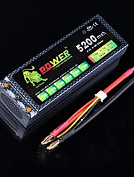 Lion 7.4V 5200MAH 30C Max 60C Hard Case Lipo Battery Power RC Drift Car Truck (Bananenstecker)