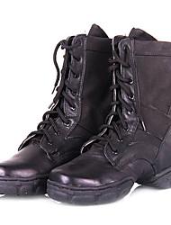 Unisex Leder Ober Lace-up Ballroom Dance Schuhe Modern Dance Boots