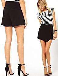 De las mujeres Oblique bolsito blanco y negro Pantalones Slim