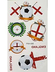 2PCS Butterfly Pattern Inghilterra Coppa del Mondo Tattoo Waterproof corpo temporaneo Glitter Stickers