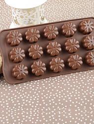 Silicone Color Box Flower Cake Chocolate Mould,21.5x10.8x1.4cm(Random Color)