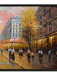Pares Paisaje Calle Enmarcado pintura al óleo