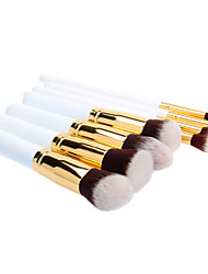 8PCS Wooden Handle Makeup Brush Set with Black Cylinder Tube (More Color)