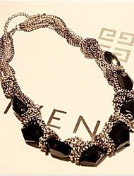 Aimé Vintage collier noir Onyx