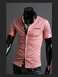 T-shirt de couleur de contraste de base de HF hommes