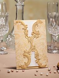 Convite do casamento da dobra do Portão de Ouro - conjunto de 50