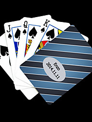 Patrón Grain regalo personalizado Blue Cross Playing Card para Poker