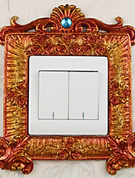 European Luxury Palace Style Orange Light Switch Stickers