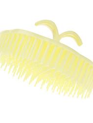 Jaune arrondi Shampooing peigne
