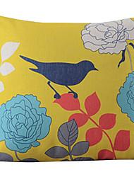 Clássico bonita pintada à mão Birdsand Flores decorativa fronha