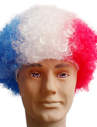 Black Afro Wig Fans Bulkness Cosplay Christmas Halloween Wig Netherlands Flag Wig 1pc/lot
