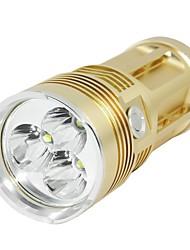 Lampes Torches LED 3 Mode 1600-2000 Lumens Surface antidérapante Cree XM-L T6 18650Camping/Randonnée/Spéléologie / Usage quotidien /