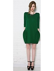 Women's Europe And The United States Of Big Shop Sign Pure Dress