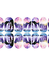 12PCS Colorful Waterfall Luminous Nail Art Stickers