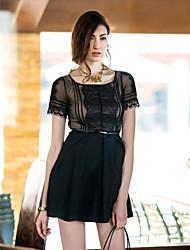 TS vestido de encaje de Splice (Cinturón Incl.)