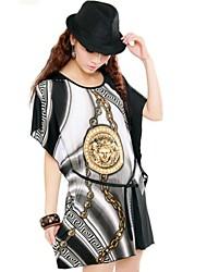 Frauen-Sommer-Seidenkleid mit Cool Engel Printing