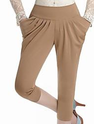 Frauen Freizeit Haren Schlank Pants