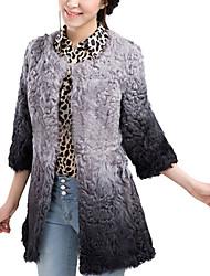 3/4 Sleeve Kragen Wolle Party / Mantel lässig (weitere Farben)