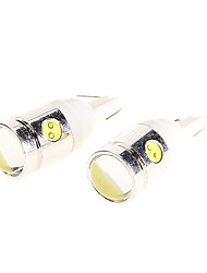4 SMD LED Wedge Light 3W High Power White Lamp Bulb 250LM for Motorcycle 2PCs