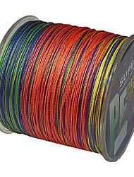 500M / 550 Yards Linha Traçada PE / Dyneema Linhas de Pesca Cores Sortidas 40LB / 30LB / 22 lb / 35LB 0.2;0.23;0.26;0.28 mm ParaPesca de