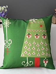 Bella albero di Natale di stile del fumetto decorativo copertura del cuscino