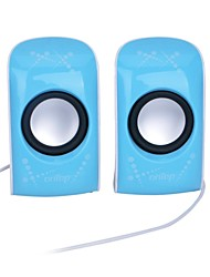6W Mini USB Powered Speaker stereo con 3.5mm Jack - Blu