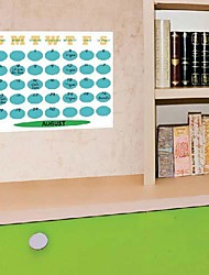 PVC Blue Color  Monthly CalendarWall Stickers Wall Decals