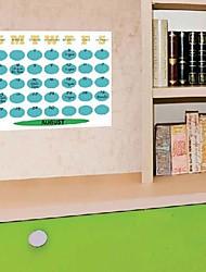 PVC Blauw Kleur Maandelijks CalendarWall Stickers muurstickers