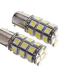 2PCS BAY15D 1156 27 SMD 5050 LED Auto KFZ Blinker Light White 12V