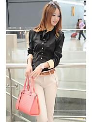 Mulheres New Long Sleeve Shirt Magro