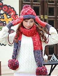 spessa stile dolce cappello sciarpa delle donne& set guanto