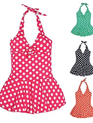 Girl's Dot Halter Swimwear